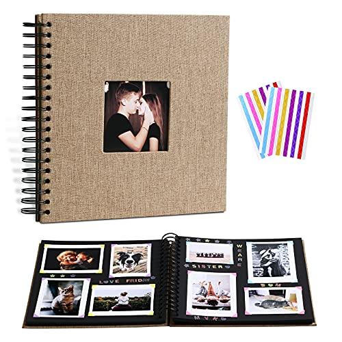 Beydodo Libro de fotos para diseñar y pegar, A4, álbum de fotos...