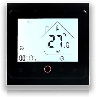 BECA 002 Serie 3 / 16A Pantalla táctil LCD Agua/Calefacción eléctrica/Caldera Termostato de control de programación inteli...