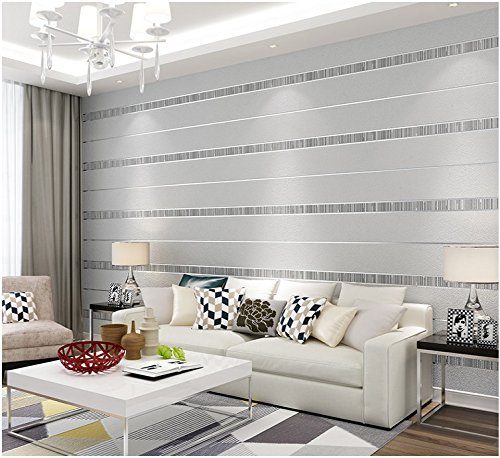 Yosot Descarga 3D Moderno Extravagante Streak Papel pintado Salón Dormitorio Tv Fondo Gris Plata