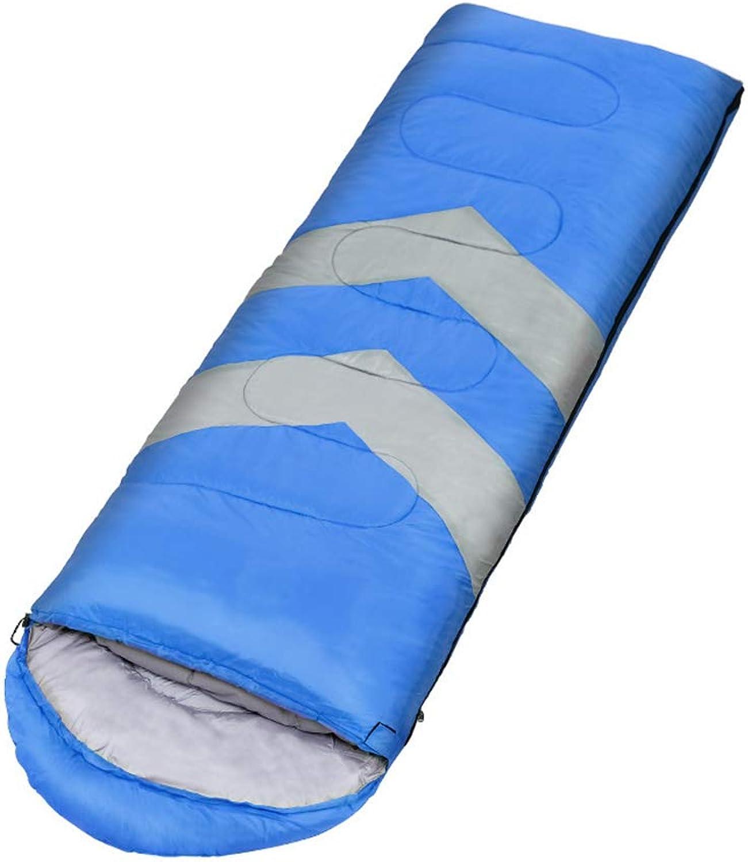 CXJC Schlafsack Professional 190  75cm 300 Nylon 5°C 20°C 3 Jahreszeiten Wasserdicht Hochleistungsstoff Ideal Für Reisen Wandern Camping Kompressionspacksack,Blau-Right-Zip B07MT4YYBX  Neu