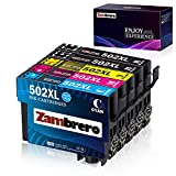 Zambrero 502XL Patronen Ersatz für Epson 502 XL Druckerpatronen Kompatibel mit Epson Workforce WF-2860DWF WF-2860 WF2860 WF-2865DWF WF-2865 WF2865, Epson Expression Home XP5100 XP5105 XP-5100 XP-5105