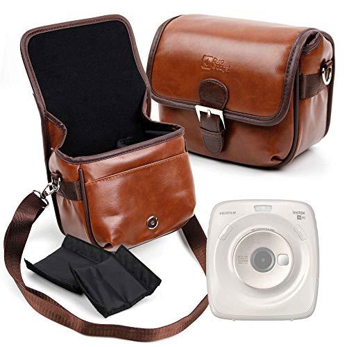 DURAGADGET Bolsa Profesional marrón con Compartimentos para Cámara Fujifilm instax Square SQ20...