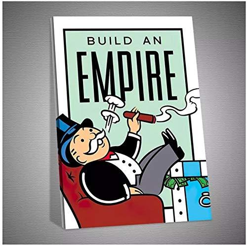 Build An Empire Monopoly HD Impresión de lienzo Decoración del hogar Sala de estar Dormitorio Arte de la pared Imagen HD Canvas -50x70cm Sin marco