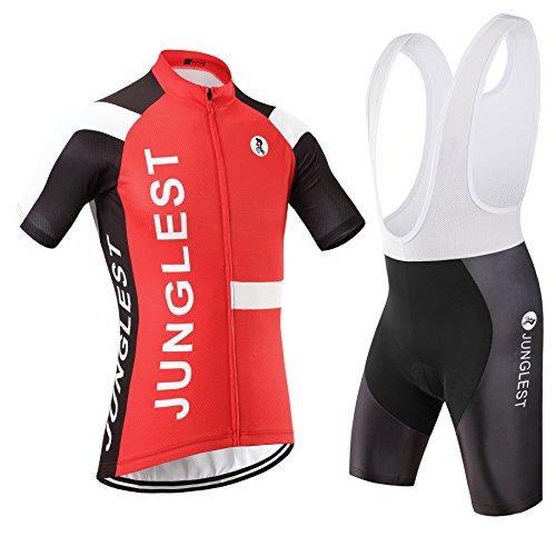 junglest (Cojín 3D)(Traje(Tirante Blancas) tamaño:4XL) Ciclismo Jerseys Chaleco sudo Rompevientos Transpirable 2016...