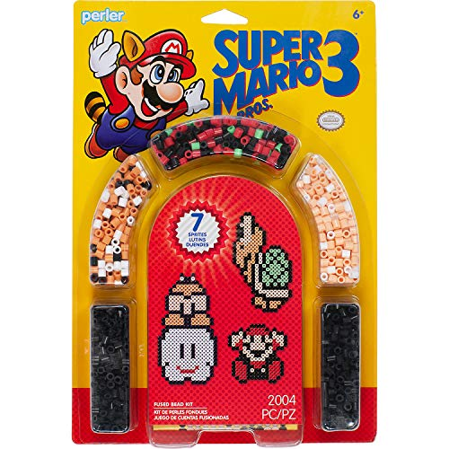 Perler Beads Crafts for Kids 'Nintendo Super Mario Bros 3' Fuse Bead Pattern Kit, 2000pc