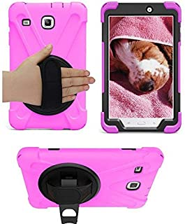 Galaxy Tab E 8.0 T377 Case, KIQ Cover Shockproof Protective Shield Case Cover Palm Handstrap for Samsung Galaxy Tab E 8.0 ...