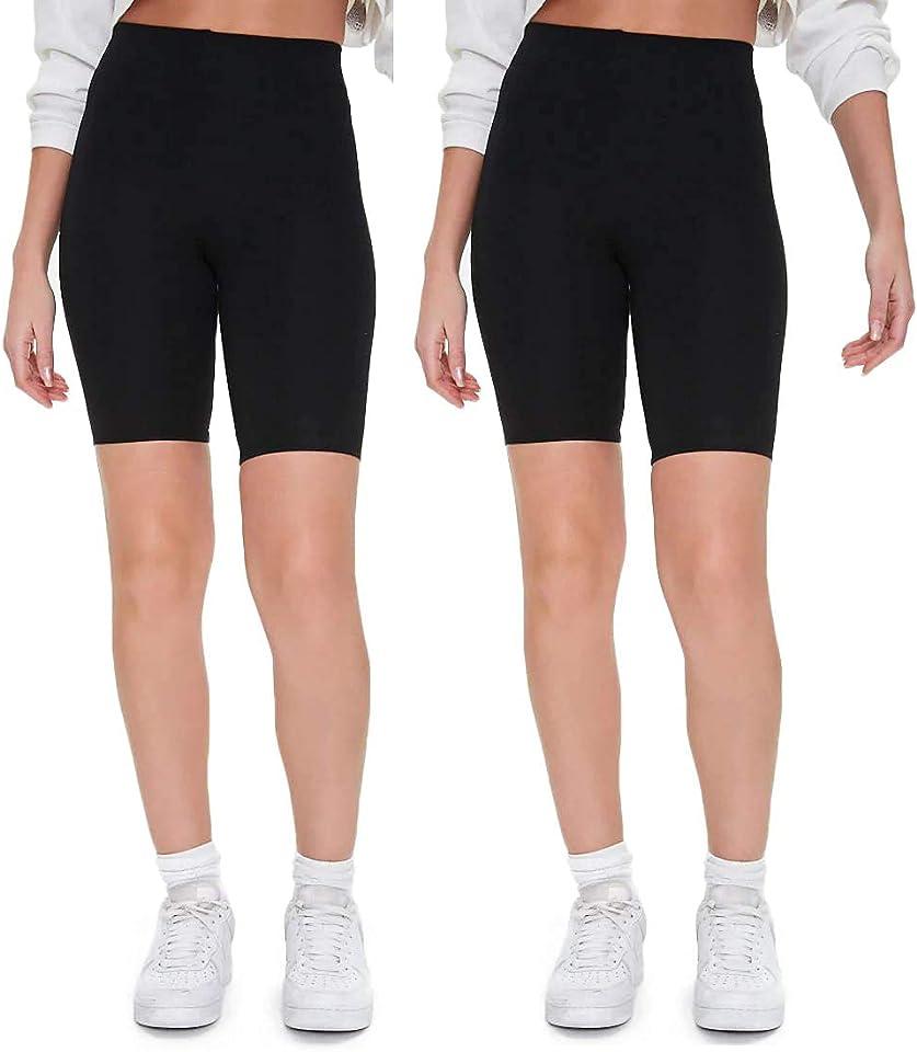 Kurze Leggings aus Bio Baumwolle, High Waist Damen Radlerhose Shorts für Alltag & Sport
