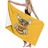 U/K Toalla de baño de secado rápido con diseño de hamburguesa
