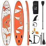 COSTWAY Stand Up Paddle Board Gonfiabile, Tavola da SUP, Surf Board Gonfiabile con Accessori Completo, Tavola da Surf Gonfiabile (335x76x15 cm)