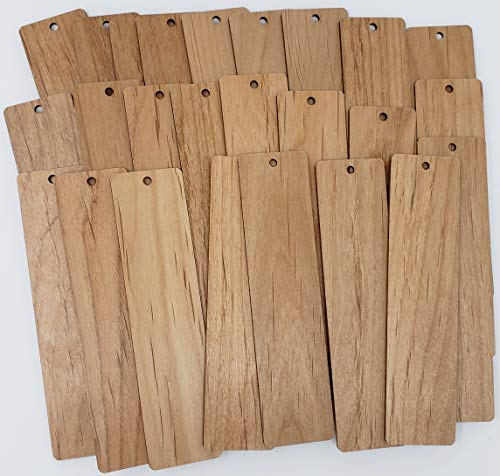 Blank Bookmarks - Laser Cut Alder Hardwood (100)