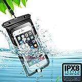 2枚セット 最新版 & Face ID認証対応&光学指紋認証 防水ケース スマホ用 完全保護 IPX8認定 防水携帯ケース 完全防水 タッチ可 気密性抜群 最大7インチ対応 iPhone 12 iPhone 11 Pro Max Xs Max XR X 8 7 6S Plus Galaxy S20 Ultra S20+ S10 Plus S10e Pixel 4 XLインチ以下全機種対応 防水カバー 水中撮影 お風呂 お風呂、キッチン 海辺ゃプールで活躍!