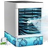 Mini Mobile Klimagerät, Tragbare USB Luftkühler Ventilator mit Wasser Kühlung 3 Geschwindigkeiten oszillierend 90° air cooler ür Schlafzimmer Wohnzimmer Büro Reise