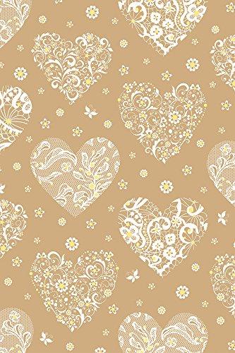 Stewo 2528723680 Geschenkpapier Seline, Rolle im Format, 70 x 150 cm, gold