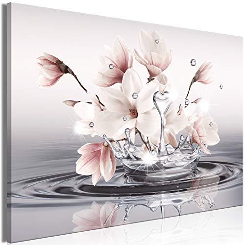 murando - Bilder Blumen 60x40 cm Vlies Leinwandbild 1 TLG Kunstdruck modern Wandbilder XXL Wanddekoration Design Wand Bild - Magnolie Zen Spa Wasser b-C-0656-b-a