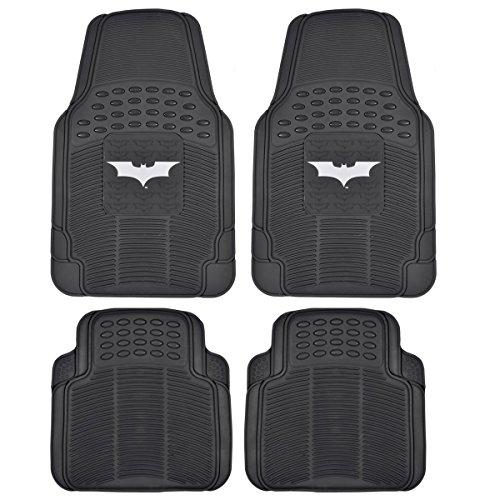 Dark Night Batman Rubber Floor Mats Car 4 PC Front Heavy Duty All Weather Prot.