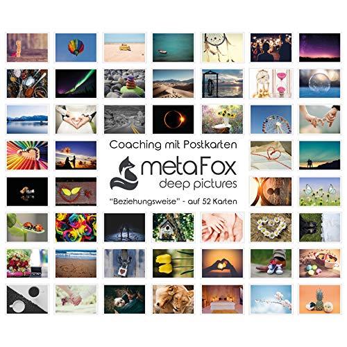 metaFox - BEZIEHUNGSWEISE - Karten-Set der besonderen Art, mit 52 Karten - Kartenset Konversation Spiel Achtsamkeit Coaching Tool Motivationskarten Gefühlskarten Kommunikationstraining (Deutsch)