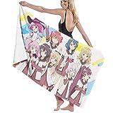 IUBBKI Anime Yuru Yuri Toalla de baño Toalla de Playa de Gran tamaño 52 x 32 Pulgadas Uso como Yoga Viajes Camping Gimnasio Toallas de Piscina en Carrito de Playa Sillas de Playa Talla única