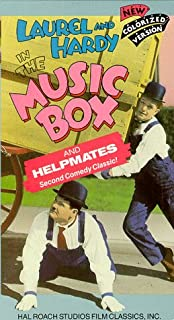 The Music Box/Helpmates Colorized VHS