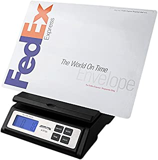 Accuteck Heavy Duty Postal Shipping Scale with Extra Large Display, Batteries and AC Adapter (A-ST85C),Black