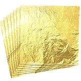 CZ Store Hoja de Oro - 100 Piezas |Hojas de 14cm|✮✮GARANTÍA DE POR VIDA✮✮- Material Dorado de Cobre para Artesanía, Decoración Dorada de Muebles, Guirnaldas, Fiestas - Brillo, Textura Suave