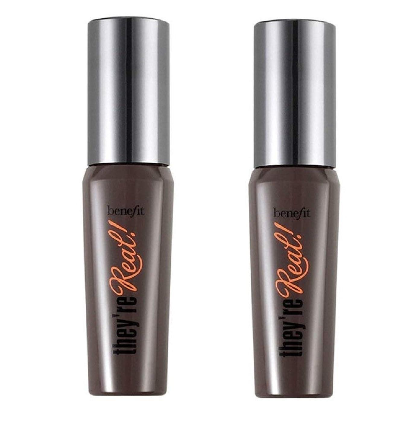 ペデスタル共和国入力Benefit Cosmetics They're Real! Tinted Lash Primer & Mascara Duo, 0.14oz x 2 [並行輸入品]