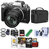 Fujifilm X-T4 Mirrorless Camera with XF 18-55mm f/2.8-4 R LM OIS Lens, Silver - Bundle with Shoulder Bag, 32B SDHC Card, Cleaning Kit, Card Reader, Memory Wallet, Mac Software Pack, 58mm Filter Kit
