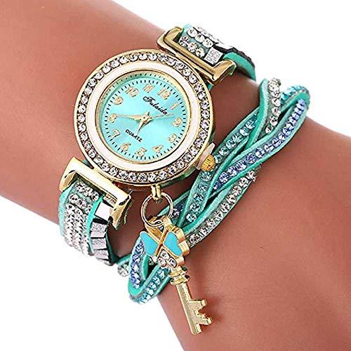 WSSVAN Reloj de Mujer Cristal de Cuarzo Pulsera para Mujer Abrigo de...