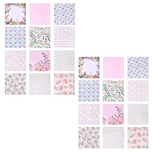 EXCEART 48 Hojas de Papel de Patrón Estético Álbum de Recortes Papel Decorativo Cartulina de Una Papel para Álbum de Fotos de Artesanía