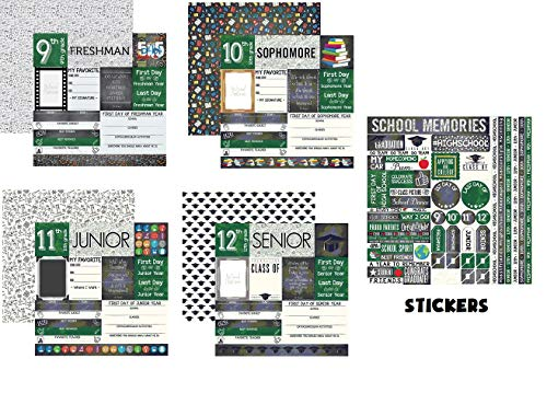 High School 9th-12th Grade - You've Been Schooled Papers & Stickers Set