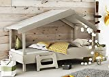 Miroytengo Cama Infantil Forma de casa o Cabaña Diseño Original Color Gris...