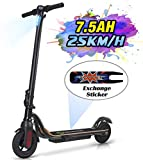 MEGAWHEELS S10 Electric Scooter Commute to Work or Ride for Fun, 7500 mAh Long Range Battery, Up to 25 KM/H, 8.0' Tires, Portable and Folding Commuter Electric Scooter for Adults (Black)
