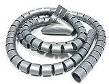 Bambelaa! Gaine Cable 1,5 m Conduit De Cable Bureau Gaine Spirale Flexible Gaine Spirale Pour Cable Electrique 20 mm Gris