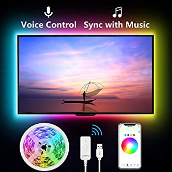 Smart TV LED Backlight  9.2ft LED Strip Lights via APP Control Work with Alexa and Google Home Voice Control Music Sync WiFi TV Backlights for 30-60 inch TV Gaming Monitor