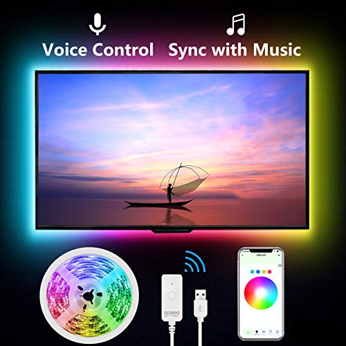 Smart TV LED Backlight , 9.2ft LED Strip Lights via APP Control, Compatible with Alexa and Google Assistant,Voice Control, Music Sync, WiFi TV Backlights for 30-60 inch TV, Gaming Monitor