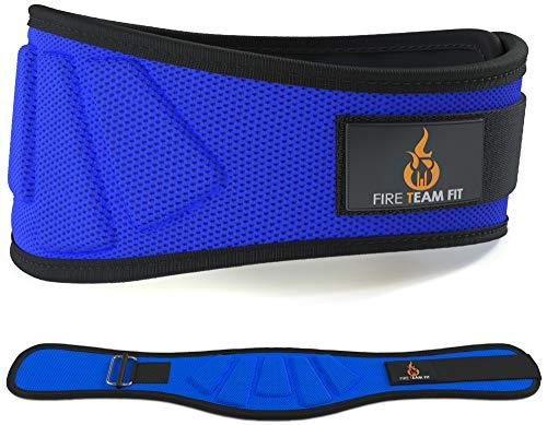 Gewichthebergürtel von Fire Team, Olympisches Heben, für Damen und Herren, ca. 15 cm, Schutz und Stabilität für den Rücken- und Bauchbereich