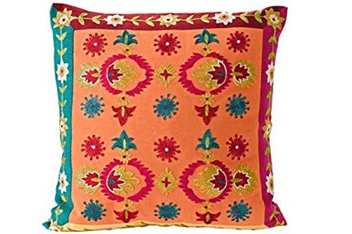 Gardinenbox.eu Kissenhülle, Farbe orange/bunt, 1 Stück, Heine Home, Kissen/Kissenhülle, Größe: ca. 53x53 cm, mit Reisverschluss, ohne füllung