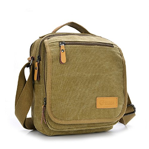 Men's Messenger bag, MiCoolker Classic Multifunction Shoulder Bag Business Messenger Bags Ipad Bag