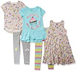 Spotted Zebra, Tunics, Leggings Mix-and-Match Outfit Playwear-Dresses, 5-teiliges Einhorn Cupcakes Set, 2 Jahre
