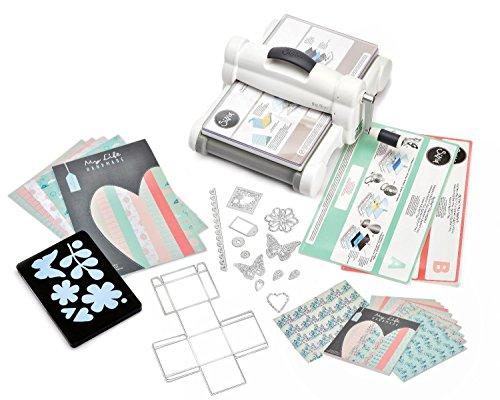 "Sizzix ""Big Shot Plus Starter Kit White/Gray A4 Stanzmaschine Prägemaschine Schneidemaschine White & Gray 36tlg."