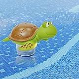 QINGCHU Dosificador de cloro para piscina, dispensador de agua de PVC, limpieza flotante, dispensador químico para piscinas interiores y exteriores, bañera