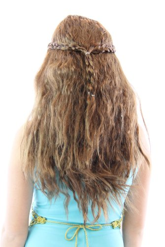 Costume Agent Game of Thrones Medieval Princess Queen Braided Perruque