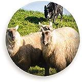 Hiram Cotton Spare Tire Cover Cane da Pastore Arrotondamento di Piccoli Animali Fauna Agricola Ruota di Scorta Agricola Copertura dei Pneumatici Universale Antipolvere Impermeabile per Molti Veicoli