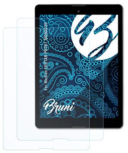 Bruni Schutzfolie kompatibel mit Medion LIFETAB P9701 MD90239 Folie, glasklare Bildschirmschutzfolie (2X)