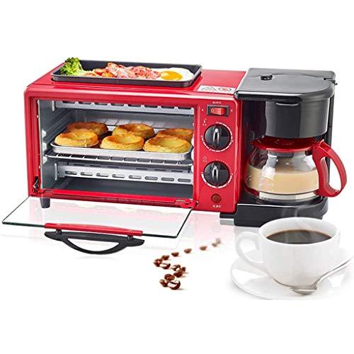 ZCX Multi-Función Horno eléctrico de Tres-en-uno Desayuno Pequeña máquina de café de la máquina automática tostadora eléctrica sartén Sandwich Tostador Mini Horno 9L Horno