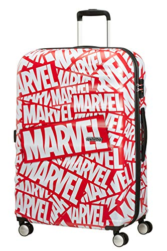 American Tourister Wavebreaker Disney, Spinner L Suitcase, 77 cm, 96 L, Multicolour (Marvel Logo)