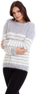 Suéter Tricot Pelinhos Listrado Kinara