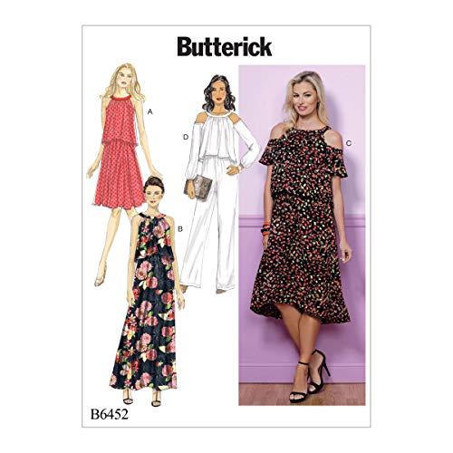 Butterick Patronen 6452 E5, Missen Jurk en Jumpsuit, Maten 14-22, Tissue Multi kleuren, 17 x 0.5 x 22 cm