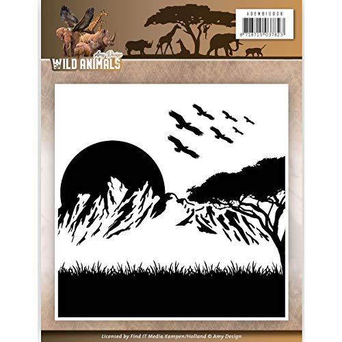 Amy design Wild Animals Embossing Folder ADEMB10006