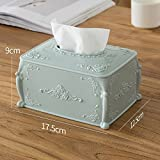 Yubingqin Cajas de pañuelos simples para sala de estar, servilletas de papel, colores (color: azul)