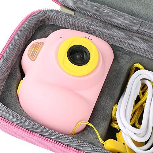 Khanka Tragetasche Case für Fede/Kimy/TekHome/OCDAY/LeaderPro/Dreamingbox Kinderkamera Pink Mädchen Blaue Junge Kinder Kamera.(Rosa)